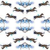 Paarden naadloze achtergrond Stock Afbeelding
