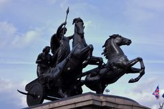 Paardengebrul voor vrede stock foto