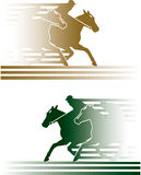 Paardenkoers Stock Illustratie