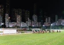 Paardenkoers, Gelukkige Vallei Hongkong Stock Foto's