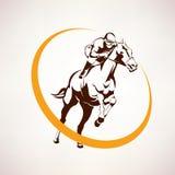 Paardenkoers gestileerd symbool vector illustratie