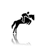 Paardenrennen stock illustratie