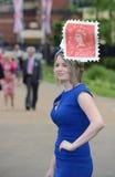 Paardenrennen, de dag van Dames bij Halsdoek Royalty-vrije Stock Afbeeldingen