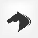 Paardhoofd - vectorillustratie Stock Afbeeldingen