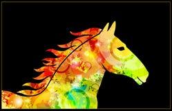 Paardillustratie Stock Afbeelding