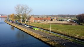 Paardlandbouwbedrijf met manege in Amsterdam stock foto