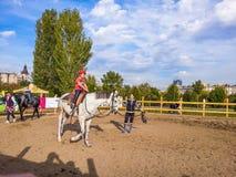 Paardrijden in park Royalty-vrije Stock Foto's