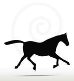 Paardsilhouet Royalty-vrije Stock Foto