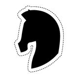 Paardsilhouet geïsoleerd pictogram Royalty-vrije Stock Afbeelding
