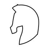 Paardsilhouet geïsoleerd pictogram Royalty-vrije Stock Foto