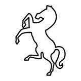 Paardsilhouet geïsoleerd pictogram Royalty-vrije Stock Fotografie