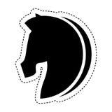 Paardsilhouet geïsoleerd pictogram Stock Foto's