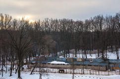 Paardstal Stock Afbeelding