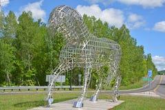 Paardstandbeeld Stock Fotografie