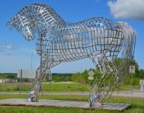 Paardstandbeeld Stock Foto's