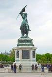Paardstandbeeld in Volksgarten in Wenen, OOSTENRIJK Stock Afbeeldingen