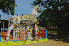 Paardtempel, Tamil Nadu, India Stock Foto