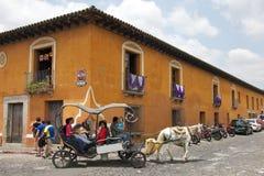 Paardvervoer in Antigua Stock Afbeeldingen