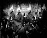 Paardwachten in het park stock afbeelding