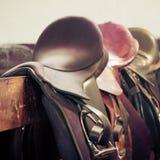 Paardzadel Royalty-vrije Stock Foto's