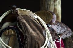 Paardzadel stock foto's