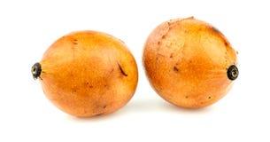 Paare achacha Früchte lokalisiert auf weißem Hintergrund Lizenzfreie Stockfotos