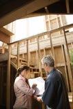 Paare auf Baustelle. Lizenzfreies Stockbild