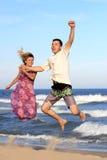 Paare auf dem Meer Stockfoto