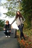 Paare auf der Straße Stockbilder