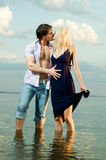 Paare auf Fluss Stockfoto