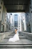 Paare auf Treppe Lizenzfreies Stockfoto