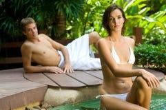 Paare am Badekurort Stockfotografie