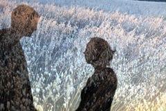 Paare beschatten auf dem Gebiet Lizenzfreie Stockfotografie