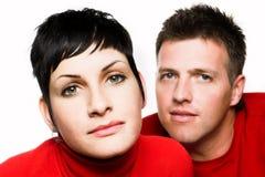 Paare betrachten die Kamera Stockfotos