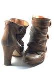 Paare Brown-Stiefel lizenzfreie stockfotografie
