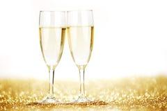 Paare Champagnerflöten Lizenzfreie Stockfotografie
