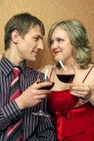 Paare Clinkgläser mit Lizenzfreies Stockbild