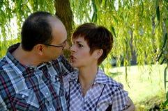 Paare in der $überschneidung Stockbilder