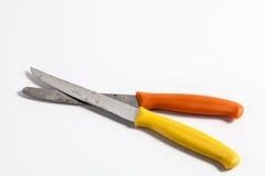 Paare der alten Küchenmesser Lizenzfreies Stockbild