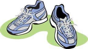 Paare der athletischen Schuhe Stockbilder