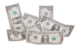 Paare der benutzten Dollar Stockfotos