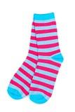 Paare der bunten Socken Stockfotos