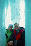 Paare in der Eisgrotte Lizenzfreies Stockbild