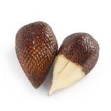 Paare der exotischen Salak-Palmen-Frucht Lizenzfreies Stockbild