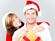Paare der frohen Weihnachten Lizenzfreie Stockfotografie