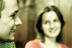 Paare in der Gaststätte Stockfotografie