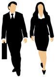 Paare der Geschäftsleute, die vorwärts gehen stock abbildung