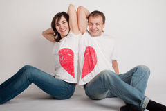 Paare der jungen Leute Stockfoto