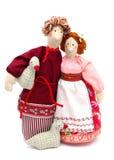 Paare der Landarbeiter im traditionellen Kleid Stockfotografie