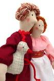 Paare der Landarbeiter im traditionellen Kleid Stockfotos